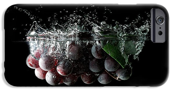 Wine Reflection Art iPhone Cases - Grapes iPhone Case by Andreas Berheide