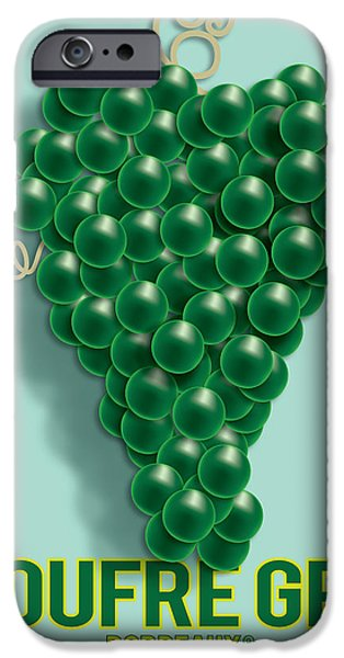 Vector Posters iPhone Cases - Grapes iPhone Case by Gary Grayson