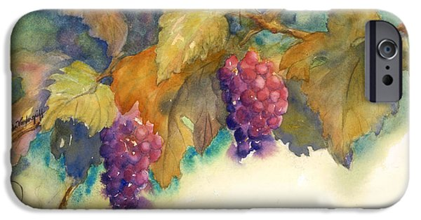 Concord Grapes iPhone Cases - Grapes iPhone Case by Hilda Vandergriff