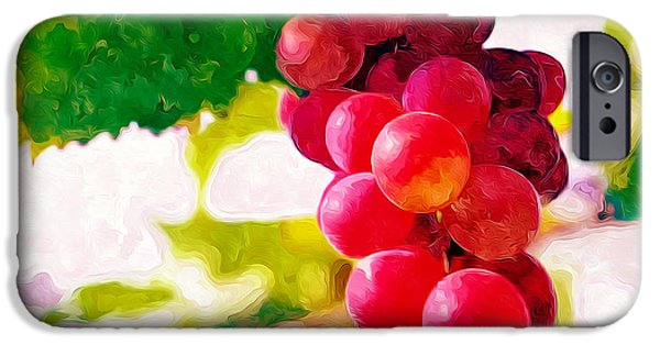 Crops iPhone Cases - Grapevine iPhone Case by Lanjee Chee