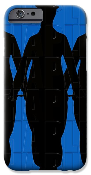 Chaplin iPhone Cases - Graphic Chaplin 2 iPhone Case by Andrew Fare