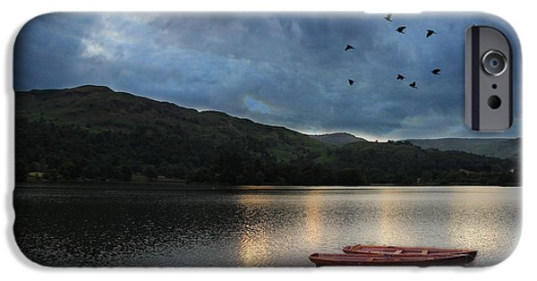 Boat iPhone Cases - Grasmere Lake District iPhone Case by Martin Newman