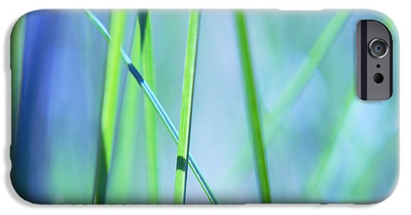 Aimelle Photographs iPhone Cases - Grass Abstract - 0102a iPhone Case by Variance Collections