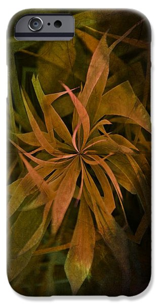 Weed Line iPhone Cases - Grass Abstract - Earth iPhone Case by Marianna Mills