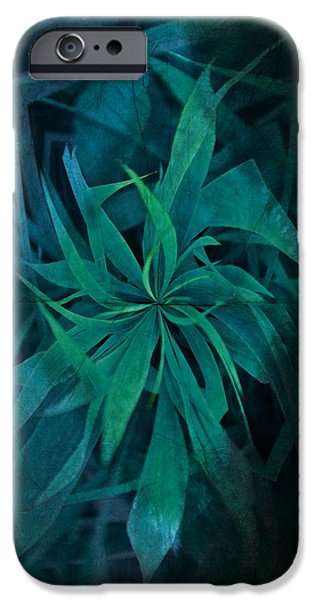 Weed Line iPhone Cases - Grass Abstract - Water iPhone Case by Marianna Mills