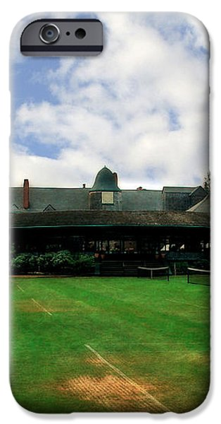 Grass Courts at the Hall of Fame iPhone Case by Michelle Calkins