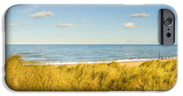 North Sea iPhone Cases - Grass On The Beach, Horsey Beach iPhone Case by Panoramic Images