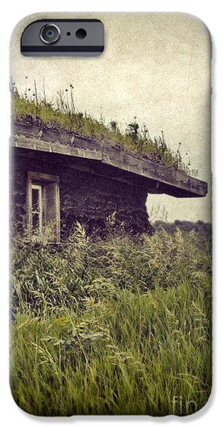 Sod iPhone Cases - Grass Roof on Cottage iPhone Case by Jill Battaglia