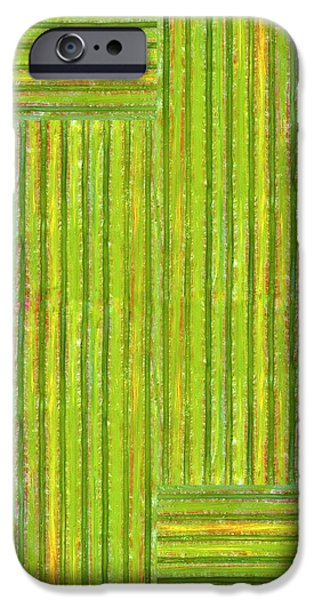 Grassy Green Stripes iPhone Case by Michelle Calkins