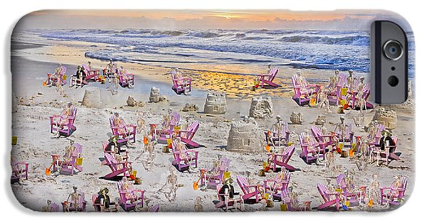 Sand Castles iPhone Cases - Grateful Holiday iPhone Case by Betsy A  Cutler