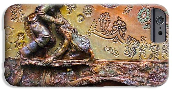 Religious Ceramics iPhone Cases - Gratitude iPhone Case by Gary Wilson