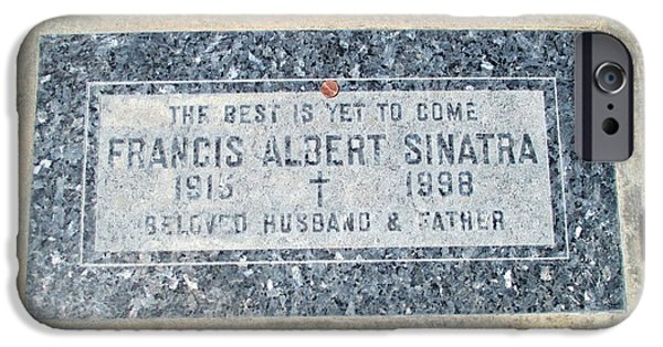 Cemetary iPhone Cases - Grave Of Frank Sinatra 1 iPhone Case by Randall Weidner