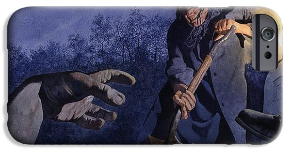 Macabre iPhone Cases - Grave Robber iPhone Case by Matthew Frey