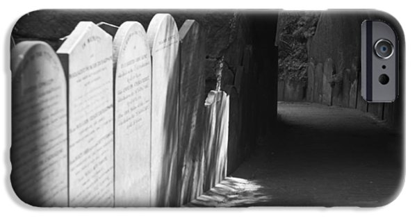 Cemetary iPhone Cases - Grave Row iPhone Case by Nomad Art And  Design
