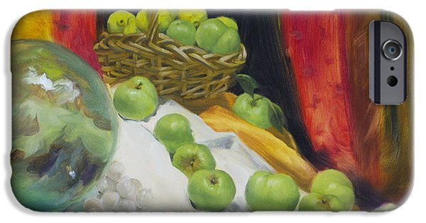 Basket Ball Paintings iPhone Cases - Gravensteins iPhone Case by Roger Clark