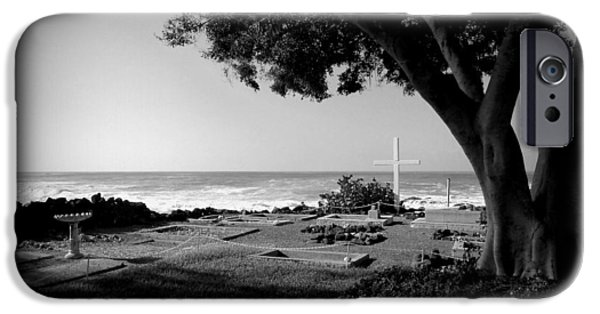 Grave Yard iPhone Cases - Graveyard By The Sea iPhone Case by Lori Seaman