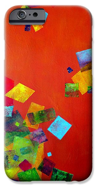 Abstract Expressionist Mixed Media iPhone Cases - Gravity Is Only A Theory iPhone Case by Jim Whalen