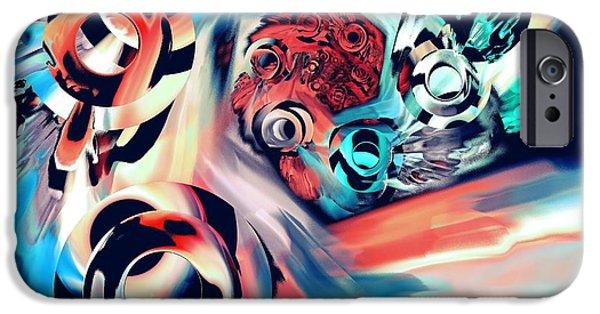 Swirl iPhone Cases - Gravity Well iPhone Case by Anastasiya Malakhova