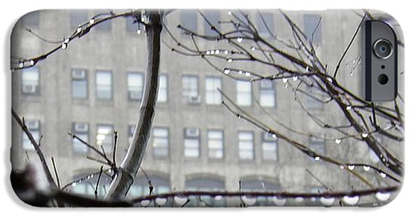 Rainy Day iPhone Cases - Gray City iPhone Case by Sarah Loft