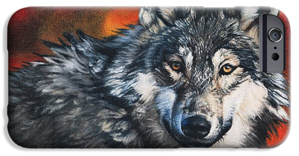 Wolf Photo iPhone Cases - Gray Wolf iPhone Case by Joshua Martin