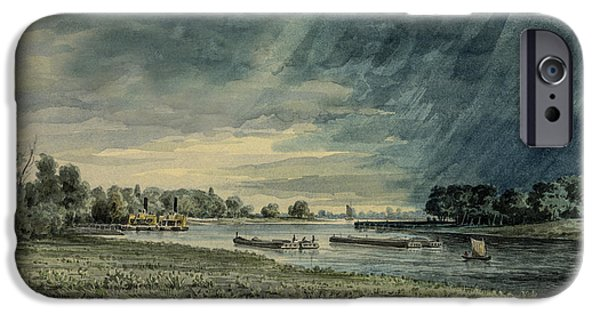Storm Drawings iPhone Cases - Grays Ferry circa 1858 iPhone Case by Aged Pixel