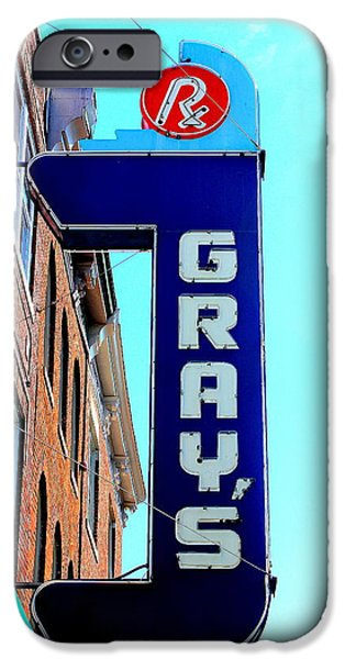 Historic Downtown Franklin iPhone Cases - Grays Rx iPhone Case by Anthony Jones