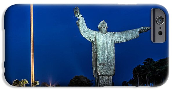 Nombre iPhone Cases - Great Cross St. Augustine iPhone Case by Scott Moore