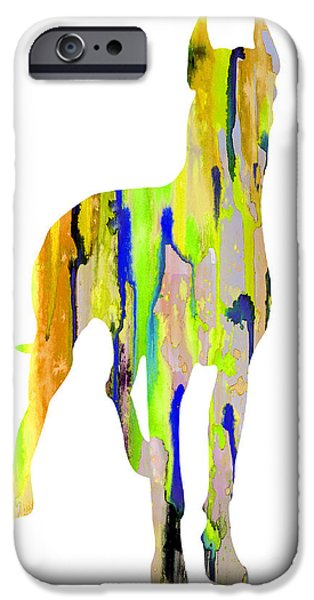 Great Dane iPhone Cases - Great Dane 10 iPhone Case by Luke and Slavi