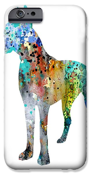 Great Dane iPhone Cases - Great Dane 12 iPhone Case by Luke and Slavi