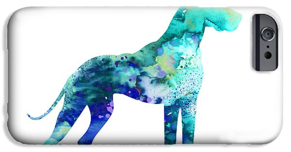 Great Dane iPhone Cases - Great Dane 5 iPhone Case by Luke and Slavi