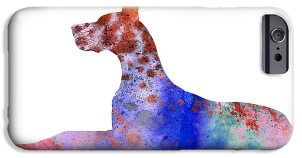Great Dane iPhone Cases - Great Dane 8 iPhone Case by Luke and Slavi