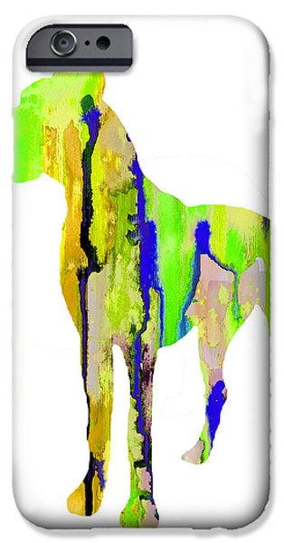 Great Dane iPhone Cases - Great Dane 9 iPhone Case by Luke and Slavi