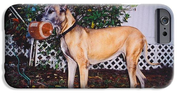 Duchess iPhone Cases - Great dane iPhone Case by Robert Floyd