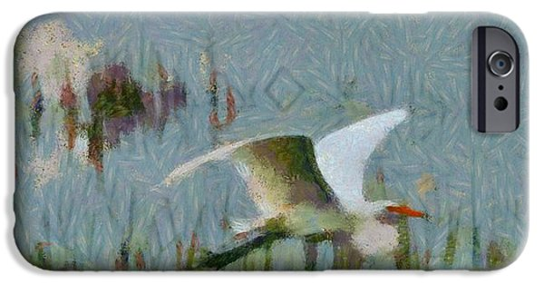 D Wade Paintings iPhone Cases - Great Egret Painting iPhone Case by Dan Sproul