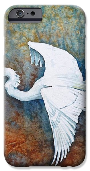 Great Egret  iPhone Case by Zaira Dzhaubaeva