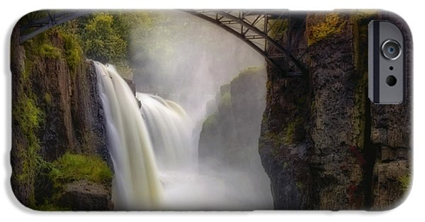 Best Sellers -  - United States iPhone Cases - Great Falls Mist iPhone Case by Susan Candelario