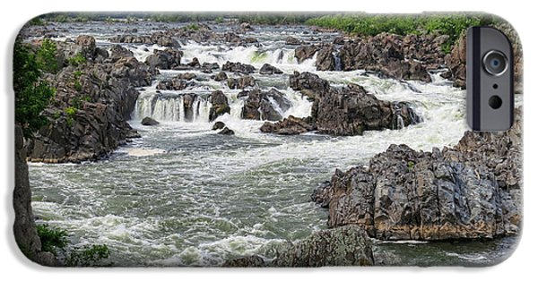 Rapids iPhone Cases - Great Falls of the Potomac iPhone Case by Olivier Le Queinec