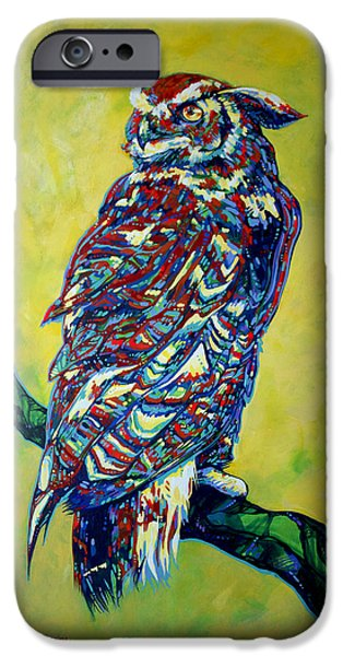 Disc Paintings iPhone Cases - Hindsight iPhone Case by Derrick Higgins