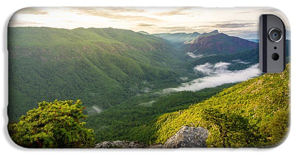 Love Asheville iPhone Cases - Great Linville Gorge iPhone Case by Serge Skiba