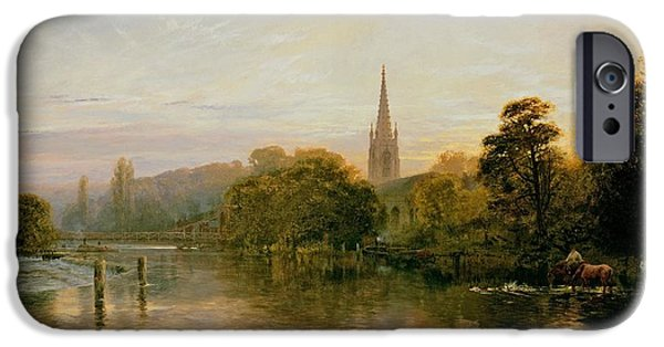 River iPhone Cases - Great Marlow iPhone Case by George Vicat Cole