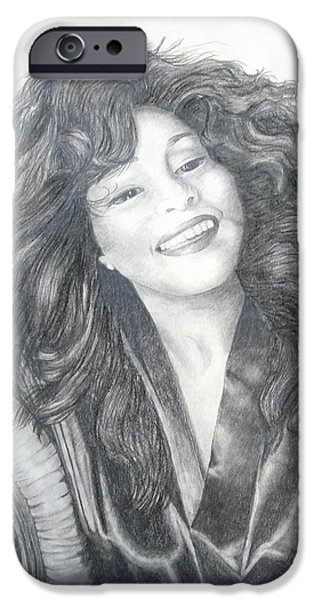 Celebrities Art Drawings iPhone Cases - Great Morning iPhone Case by Joette Snyder