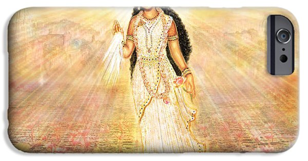 Recently Sold -  - Hindu Goddess iPhone Cases - Great Mother Goddess in a Higher Dimension iPhone Case by Ananda Vdovic