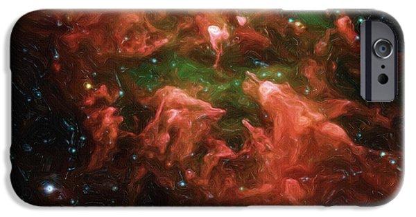 Nebulas iPhone Cases - Great Nebula in Carina iPhone Case by Ayse Deniz