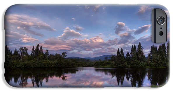 Androscoggin iPhone Cases - Great North Woods Sunset in New Hampshire iPhone Case by Christopher Whiton