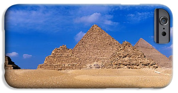 The Plateaus iPhone Cases - Great Pyramids, Giza, Egypt iPhone Case by Panoramic Images