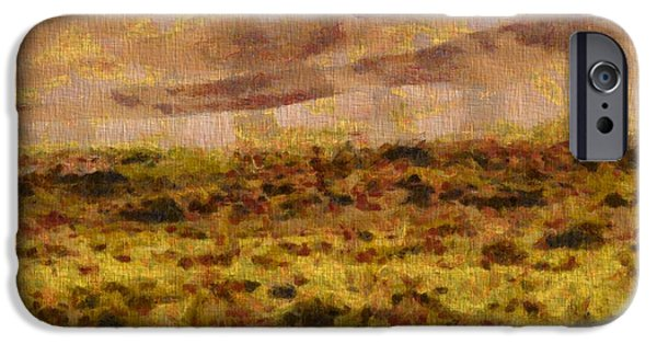 Sand Dunes Mixed Media iPhone Cases - Great Sand Dunes National Park On Canvas iPhone Case by Dan Sproul