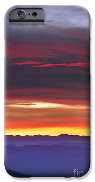 Blue Ridge Parkway iPhone Cases - Great Smokie Mountains Beautiful Sunset iPhone Case by Dustin K Ryan