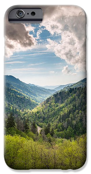 Great Smoky Mountains Landscape Photography - Spring at Mortons Overlook iPhone Case by Dave Allen