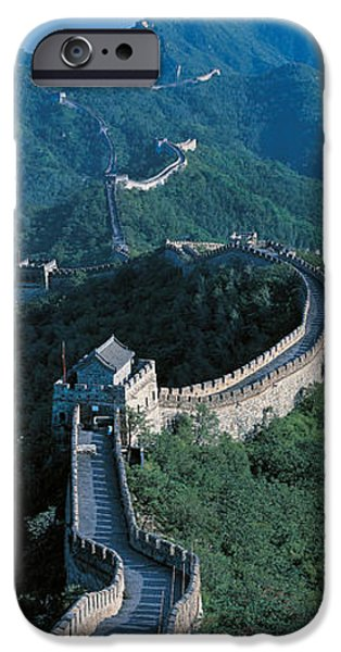 Beijing iPhone Cases - Great Wall Of China Beijing China iPhone Case by Panoramic Images