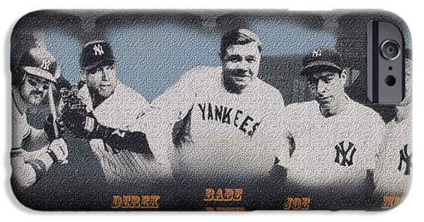 Champion Mixed Media iPhone Cases - Greatest YANKS Ever iPhone Case by Dan Haraga